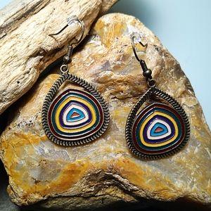 🐞2/$20 Boho Enamel Paint Drop Earrings
